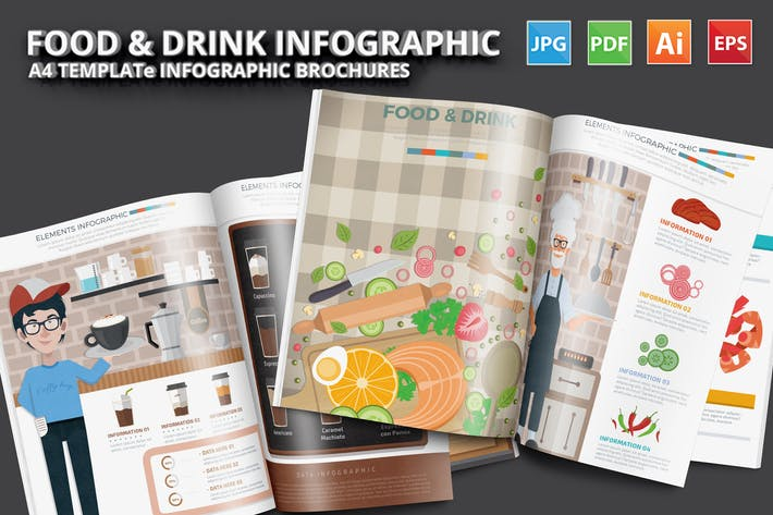 Thumbnail for Food & Drink 4 infographic Design