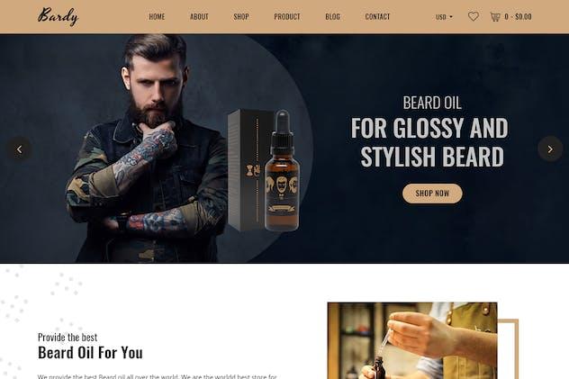 Bardy - Beard Oil Shopify Theme + RTL