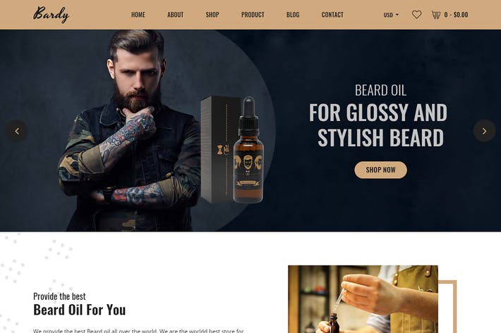Thumbnail for Bardy - Beard Oil Shopify Theme + RTL