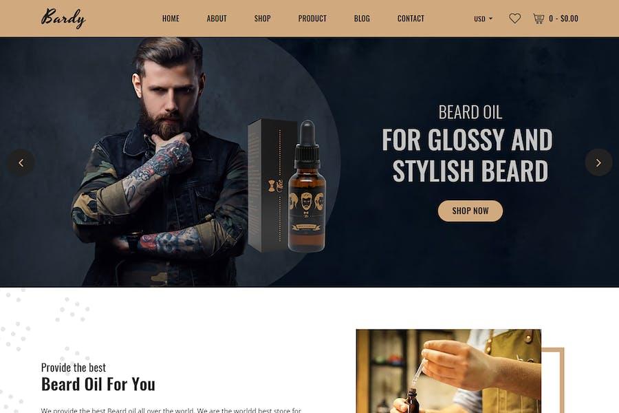 Барди - Борода масло Shopify Тема + RTL
