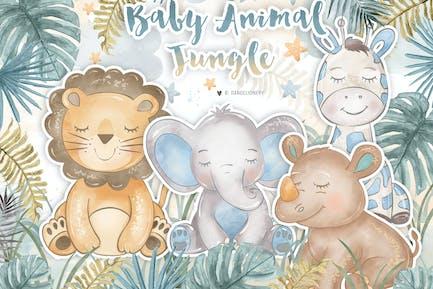 Bébé Animal Jungle