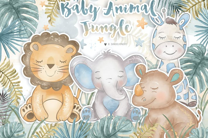 Baby Animal Jungle design