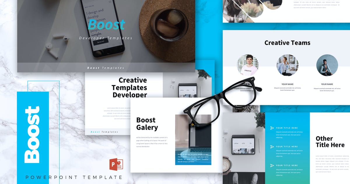 Download BOOST - IT Company Powerpoint Template by RahardiCreative