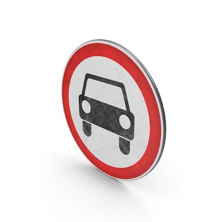 Traffic Sign No Motor Vehicles