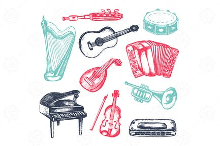 Musical Instruments - vector objects