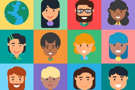 Diverse People Illustration