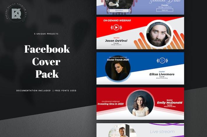Thumbnail for Webinar Livestream Facebook Cover Pack / Kit