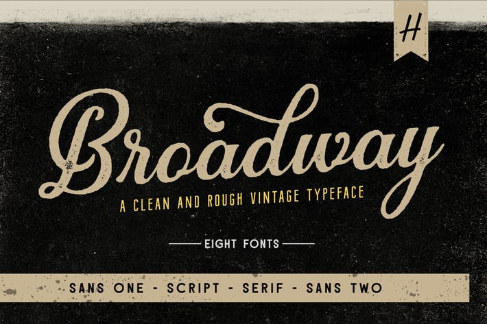 Thumbnail for Broadway | Font Pack