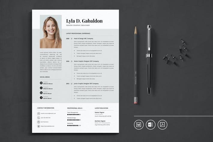 Thumbnail for Professional CV Resume Indesign Template Vol.40