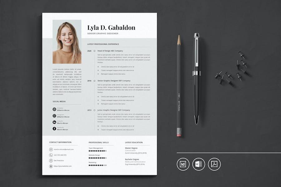 Professional CV Resume Indesign Template Vol.40