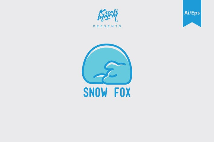 Thumbnail for Snow Fox Logo Template
