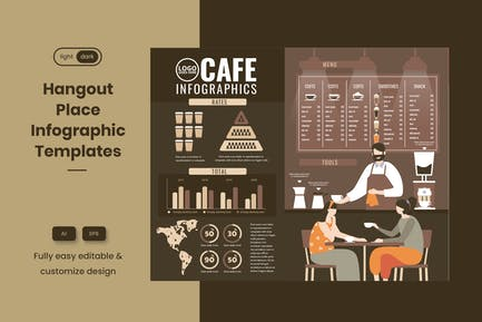 Coole Infografik-Vorlage für Café & Café