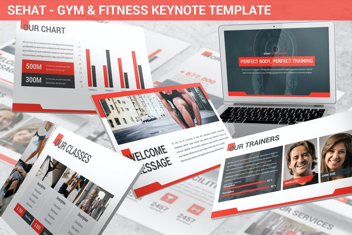 Thumbnail for Sehat - Strong Keynote Template