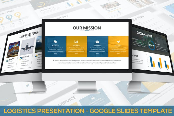 Thumbnail for Logistics Presentation - Google Slides Template