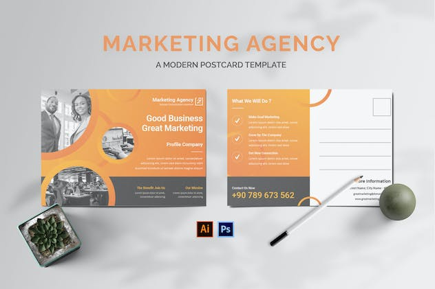 Marketing Project Postcard