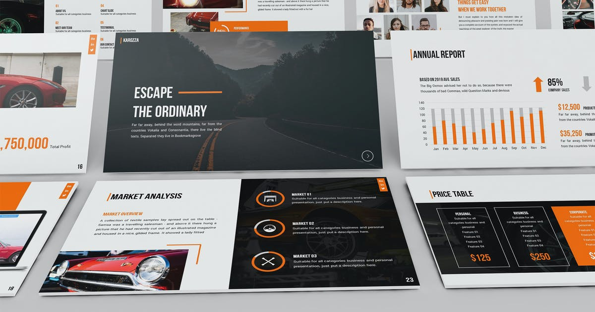 Download Karozza - Workshop Powerpoint Template by SlideFactory