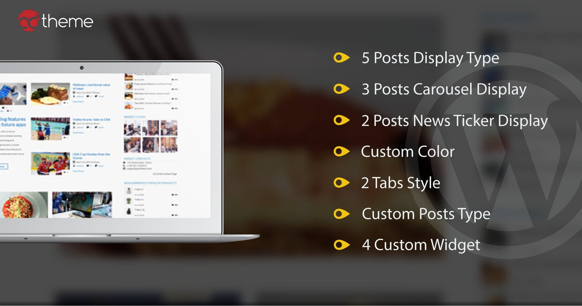 Download Mega Posts and Custom Posts Display WP Plugin by ad-theme