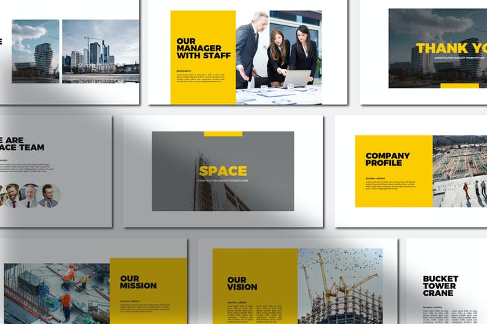 Thumbnail for Space Construction Keynote Templates