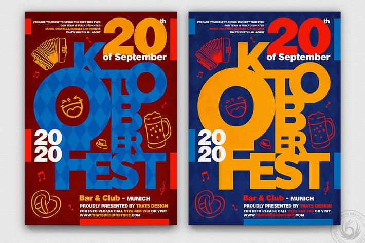 Thumbnail for Oktoberfest Flyer Template V8