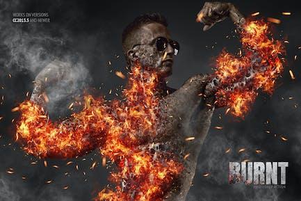 Burnt Photoshop Action