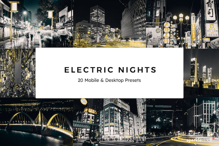 Thumbnail for 20 Electric Nights Lightroom Presets & LUTs