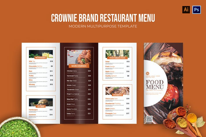 Thumbnail for Crownie Brown - Restaurant Menu
