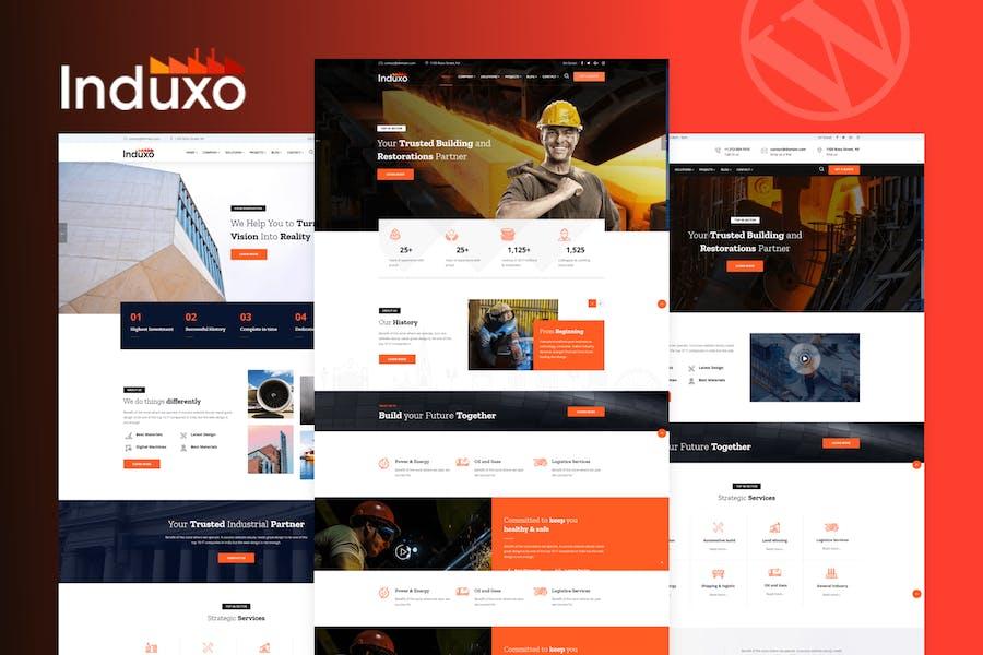 Induxo - Industry WordPress Theme by trippleS on Envato Elements