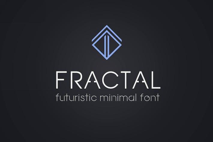 Fractal. Futuristic font