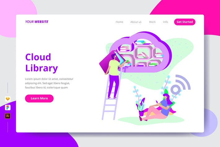 Thumbnail for Cloud Library - Landing Page