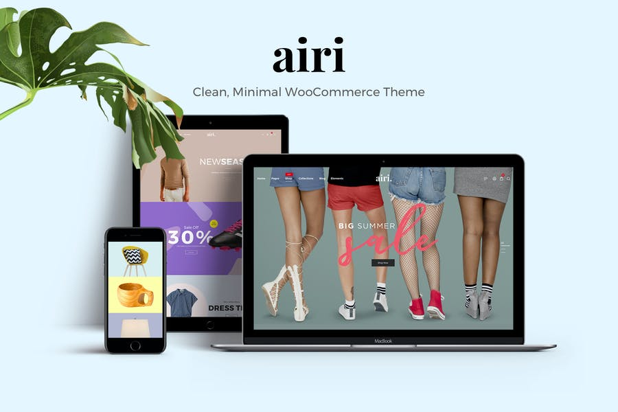 Airi - Чистая, Минимальная Тема WooCommerce
