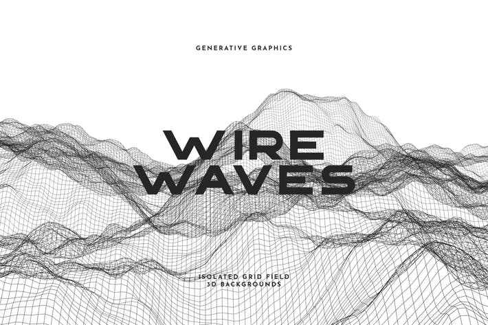 Thumbnail for Wire Waves Background Set