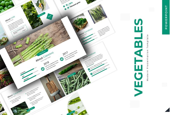 Thumbnail for Vegetables - Powerpoint Template