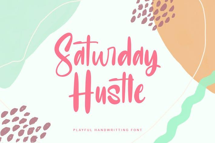 Sábado Hustle Juguetón Pantalla