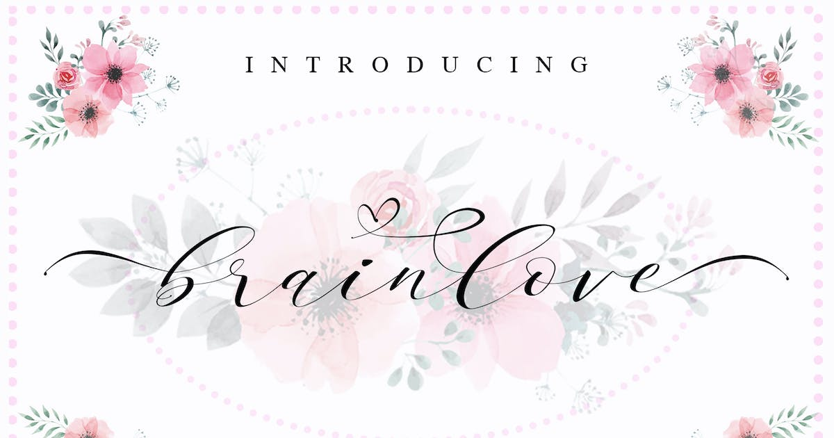Download Brainlove - Beautiful Modern Calligraphy by aldedesign