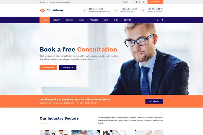 Thumbnail for Consuloan | Multipurpose Consulting HTML Template