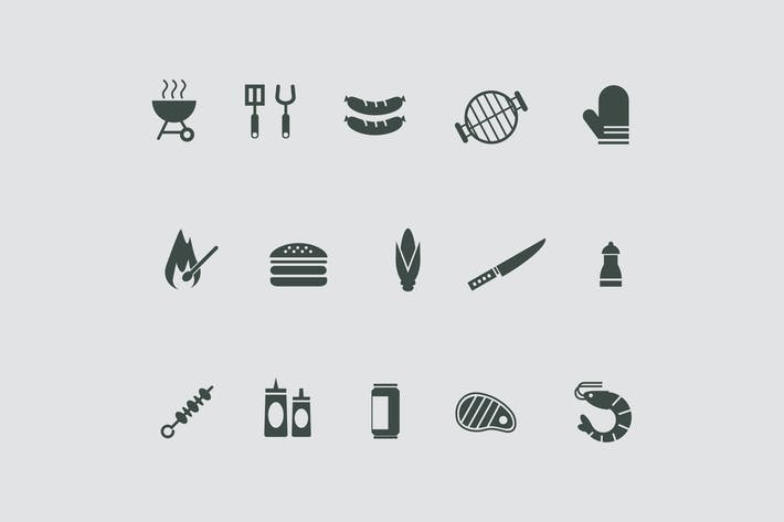 Thumbnail for 15 Grill and BBQ Icons