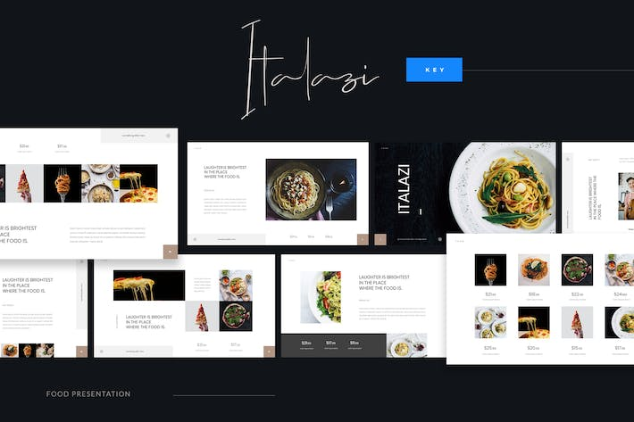 Thumbnail for Italazi - Italian Food Keynote Template