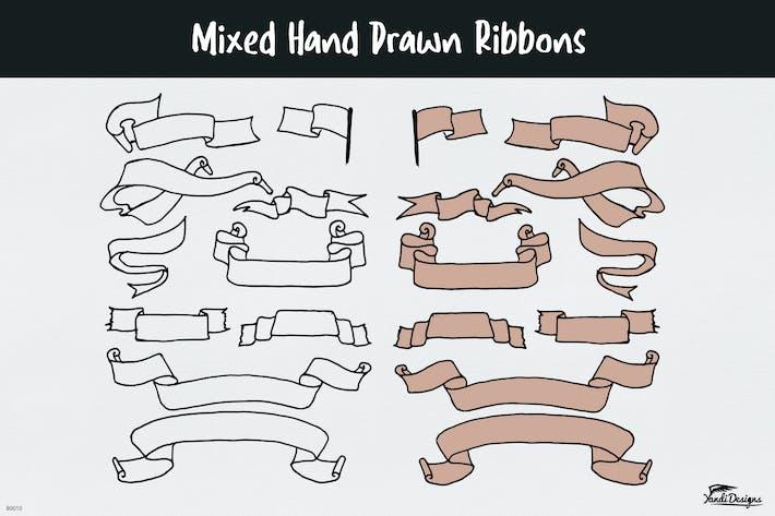 Thumbnail for Mixed Hand Drawn Ribbons