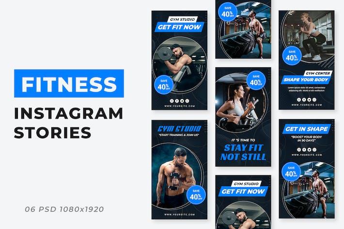 Gym Studio Instagram Storys Vorlage