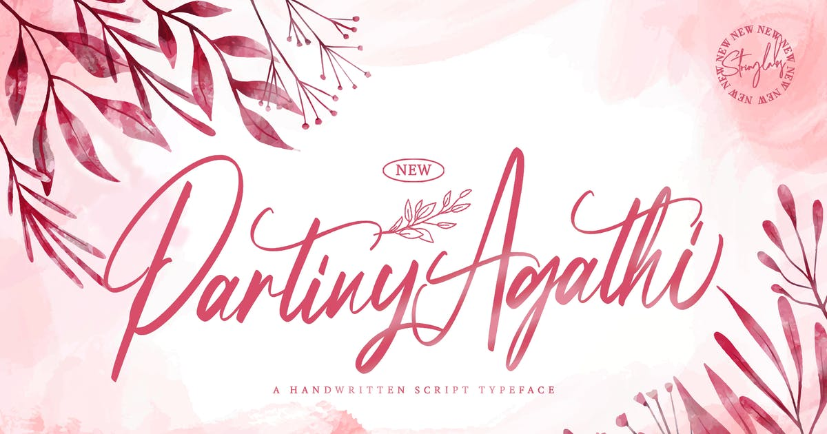 Download Partiny Agathi - Handwritten Font by StringLabs