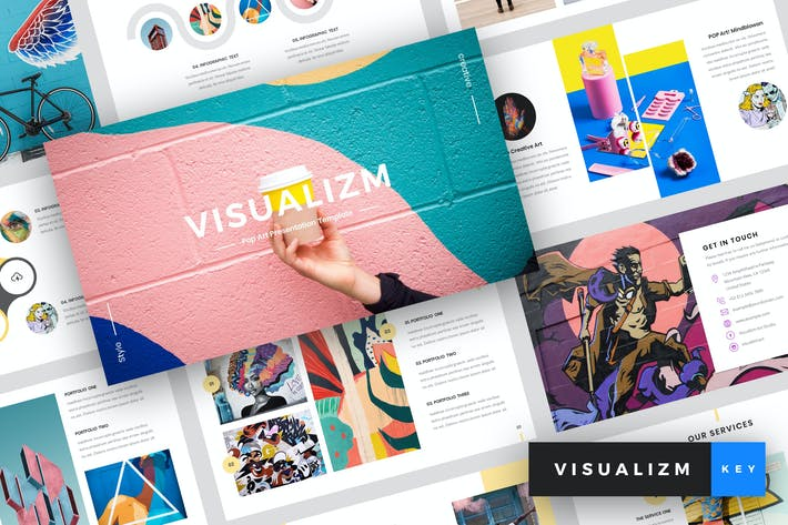 Thumbnail for Visualizm - Pop Art & Graffiti Keynote Template