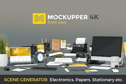 Mockupper Frontansicht Mock-up Objekte