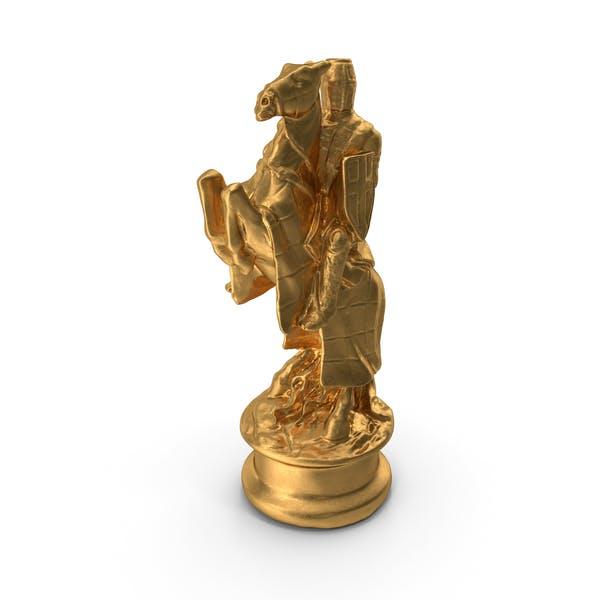 Chess Piece Knight Gold