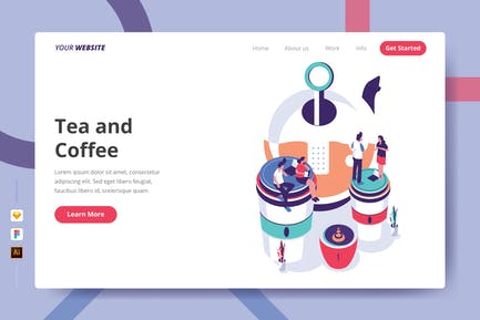 Tea and Coffee - Landing Page