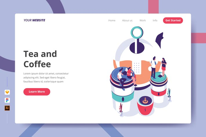 Thumbnail for Tea and Coffee - Landing Page