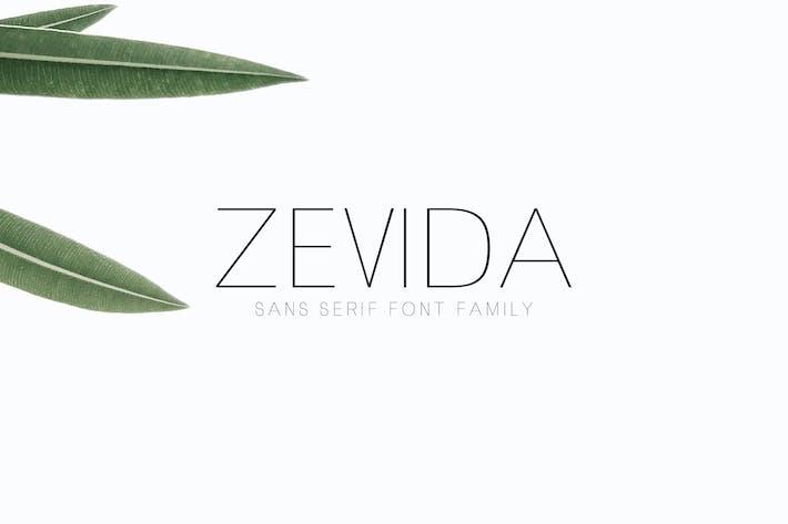 Zevida Sans Con serifa Familia tipográfica