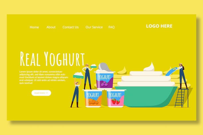 Thumbnail for Yogurt Dairy - Landing Page