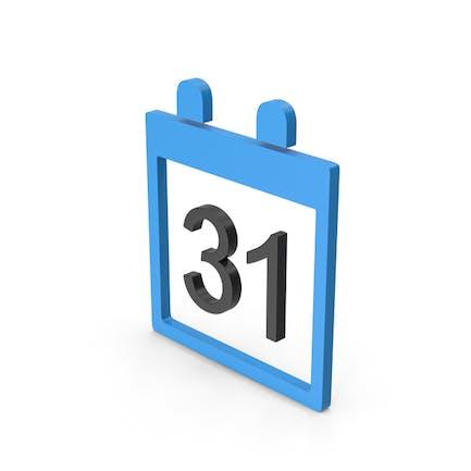 Symbol Calendar Blue
