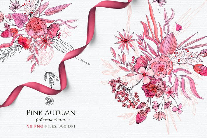 Thumbnail for Pink Autumn Flowers