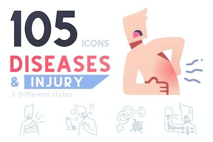 105 Symbol für Krankheiten und Verletzungen